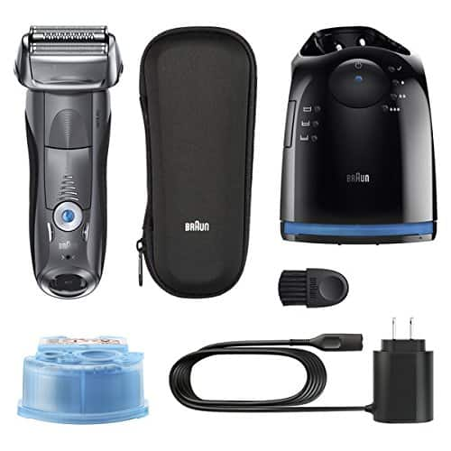 Braun Series 7 7865cc Electric Razor for Men, Rechargeable and Cordless Electric Shaver, Wet & Dry Foil Shaver, Grey, with Clean&Charge Station and Travel Case [7865cc] $159.94