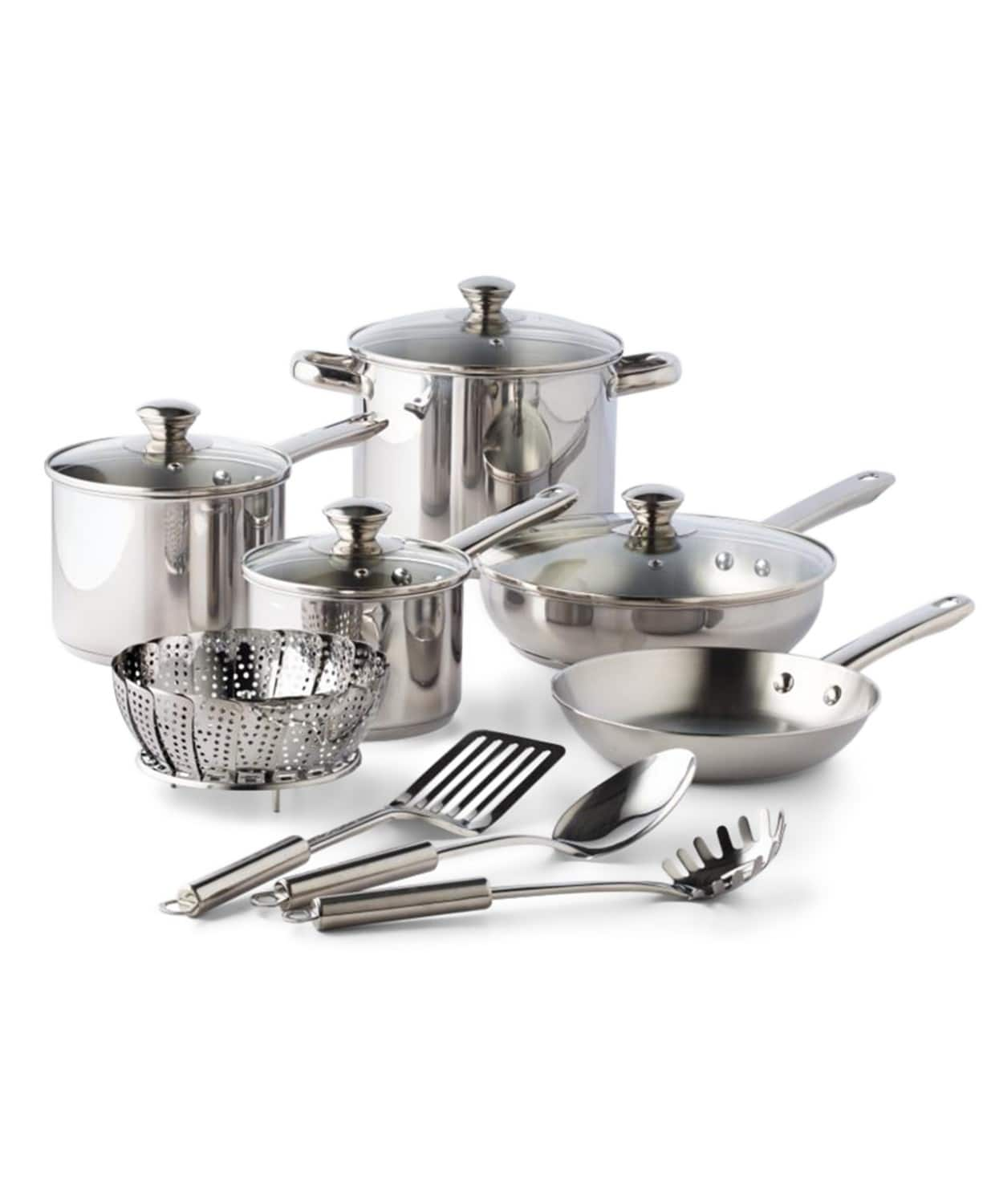 Stainless Steel 13-Pc. Cookware Set, Created for Macy's - $29.99 + free ship