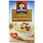 Quaker Instant Oatmeal (Pack of 4) 10 or 8 count $8 W/ clipped coupon