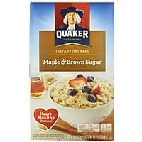 Amazon Deal: Quaker Instant Oatmeal (Pack of 4) 10 or 8 count $8 W/ clipped coupon