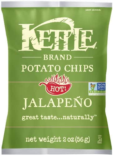 Kettle Brand Potato Chips Caddy, Jalapeno, 2-Ounce Bags, 6 Count $3.77 with Subscribe and save