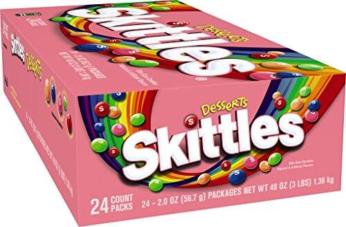 Skittles Candy, Desserts, 2 Ounce (Pack of 24) $6.45 with Subscribe and Save