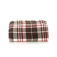 Bonton Deal: LivingQuarters Plaid Micro Cozy Throw @Bon-Ton FS $5.40, Shopprunner