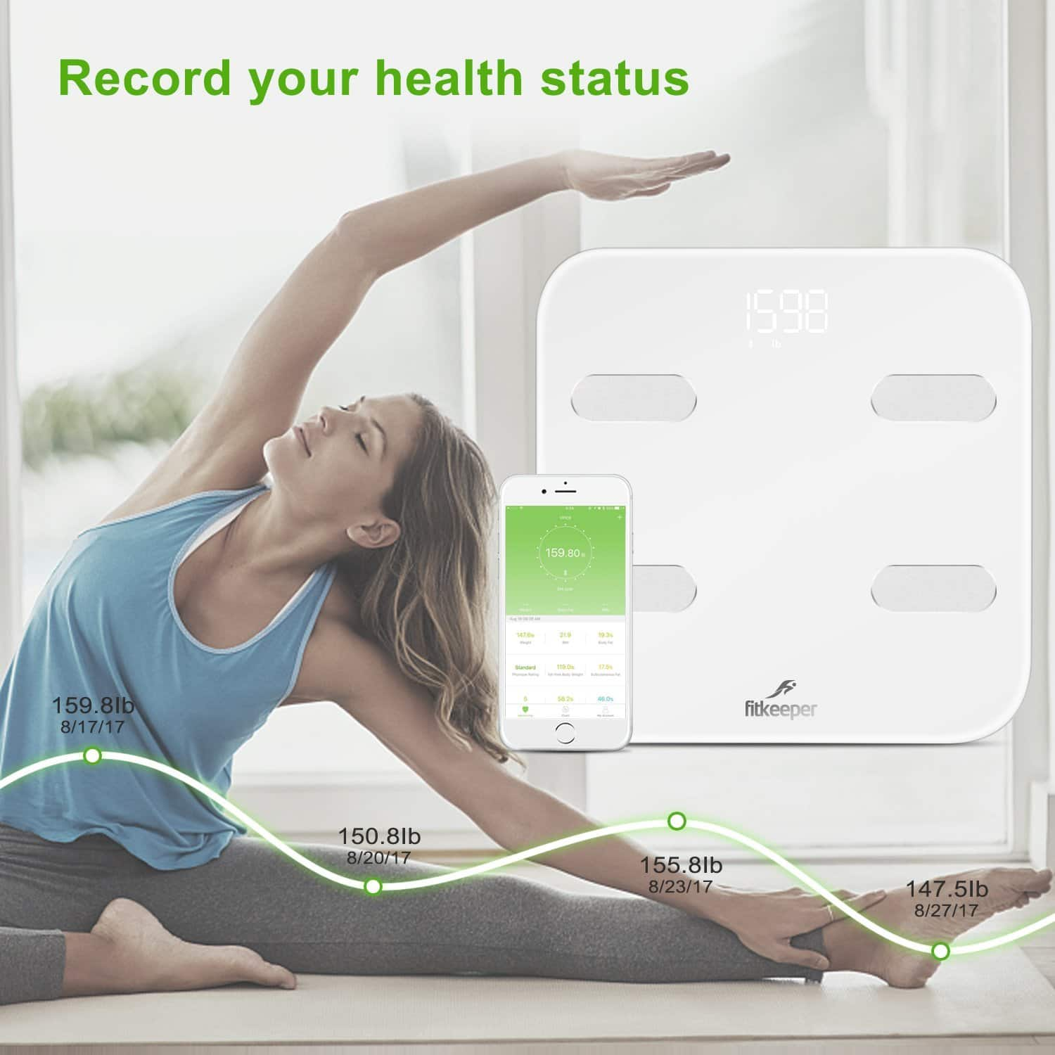 Smart Body Scale Bluetooth Digital Body Fat Monitor $17 w/ free shipping @ Amaozn $16.99