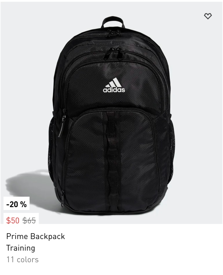 Adidas: Backpacks and Bags under $50