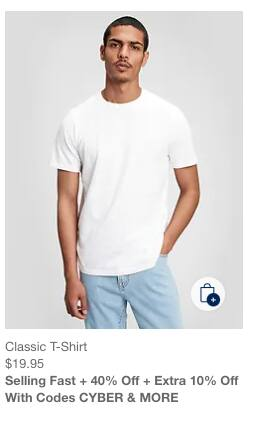 GAP: Summer Cyber: 40% Off + Extra 10% Off with Codes CYBER & MORE.