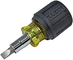 Klein Tools 6-in-1 Multi-Bit Screwdriver Stubby Nut Driver #32561 $8.38