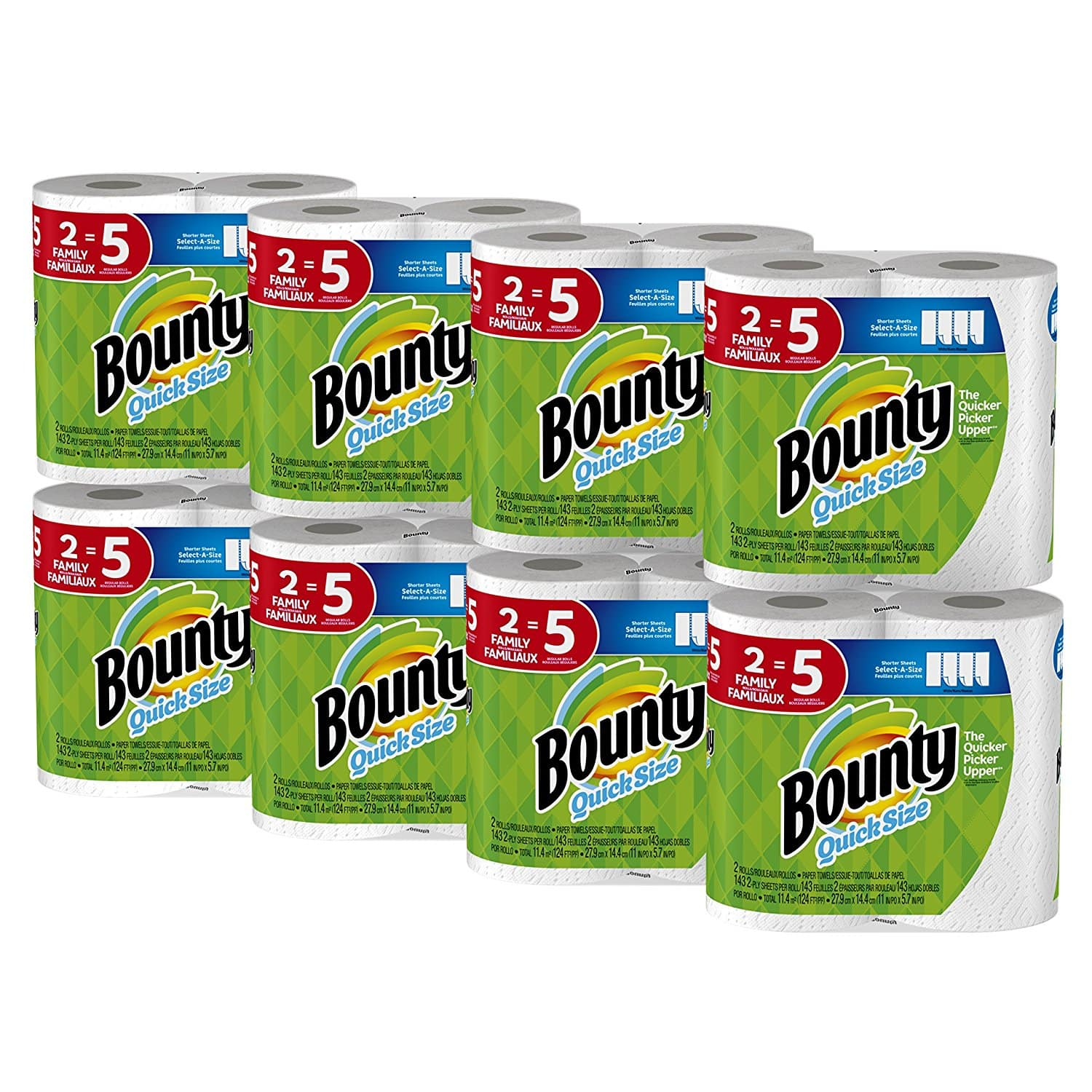 Bounty Quick-Size Paper Towels, 16 Family Rolls, White with CODE: 5QUICKBOUNTY $25.14