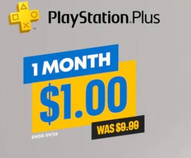 PlayStation Plus 1-Month Subscription $1 on PSN (not available to existing subscribers)