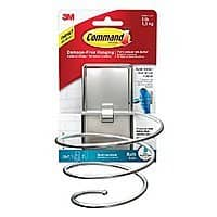 Command Removable Hair Dryer Holder or Towel Bar Brushed Nickel $  9.25 + free Shipping