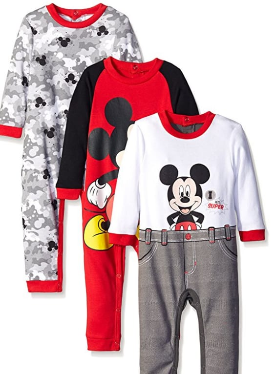 3 pack Disney Baby outfits $7, Disney onsies 3/$6 + free Prime shipping