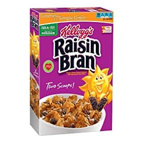 3 boxes of Kellogg's Raisin Bran, 18.7 Ounce $5.86or less + free ship (back again)