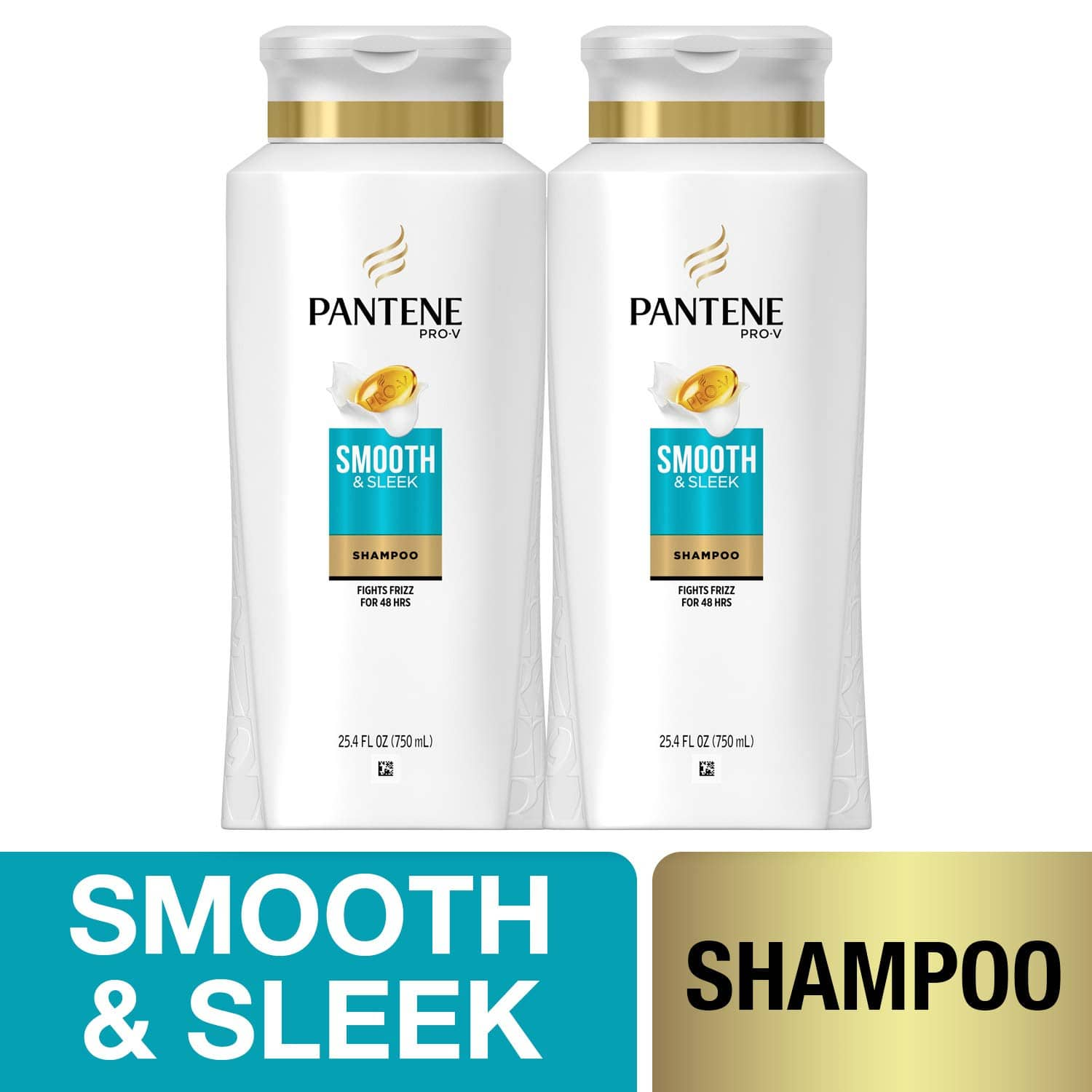 2 bottles Pantene Shampoo with Argan Oil Pro-V Smooth and Sleek Frizz Control 25.4 fl oz as low as $5.97+ free ship