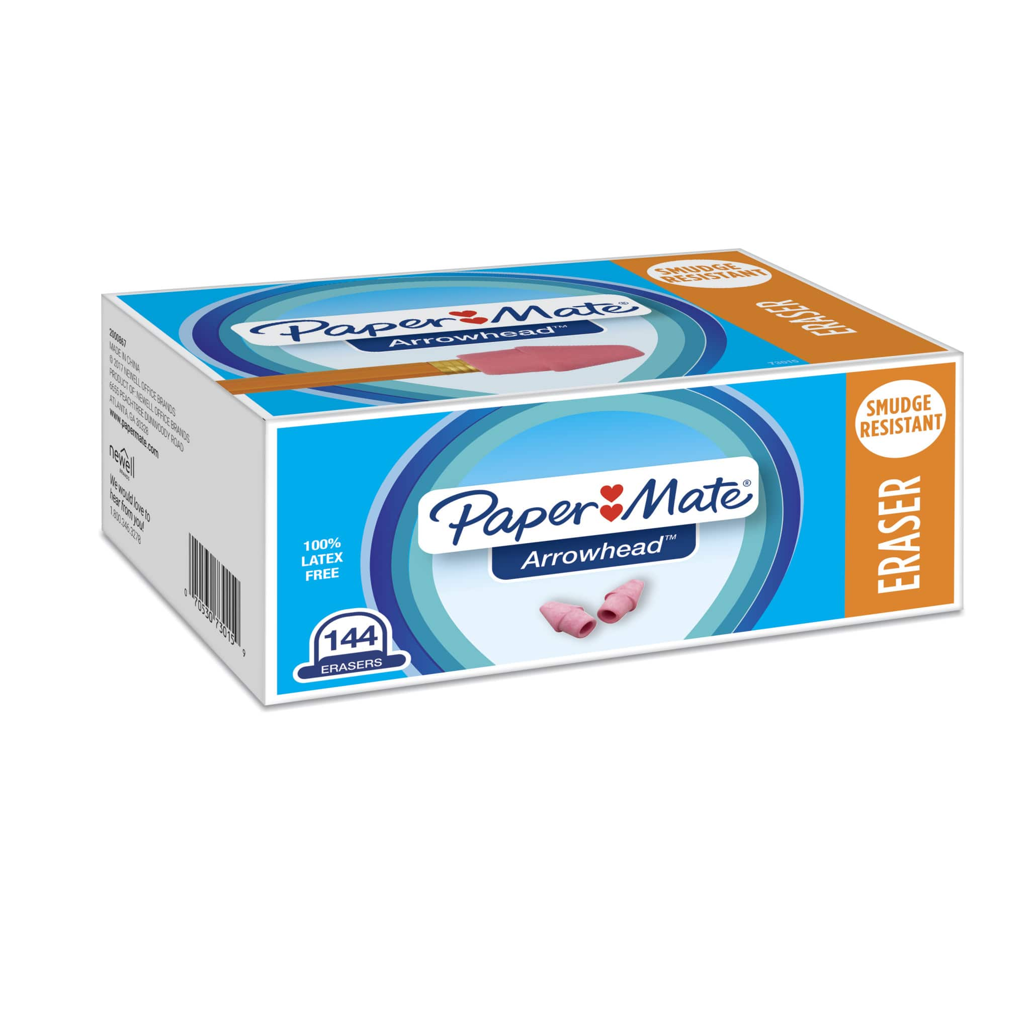 Paper Mate Pink Pencil Cap Erasers, 144 Count $2.70 + free shipping