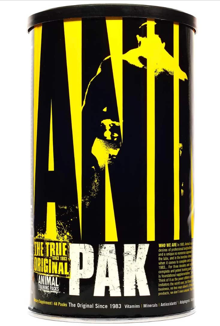 Animal Pak - the Complete All-in-one Training Pack - Vitamin Pack for Men, Amino Acids, Zinc and more - for Elite Athletes and Bodybuilders - 44 Packs $23.06