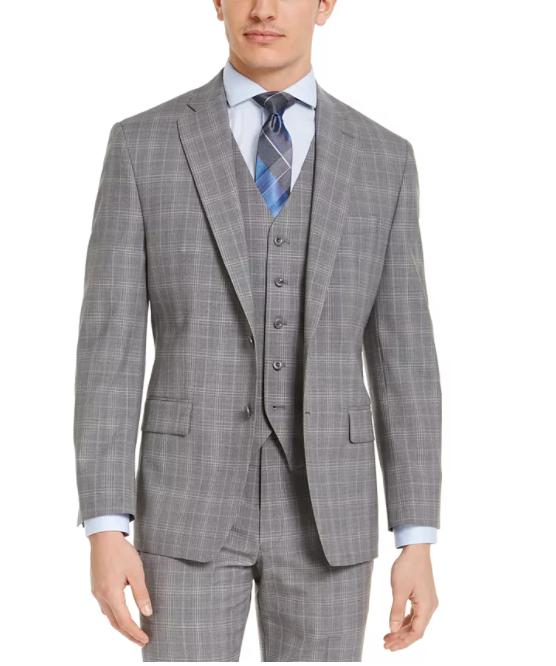 Michael Kors Men's Classic-Fit Airsoft Stretch Wool Suit Jacket $47.99
