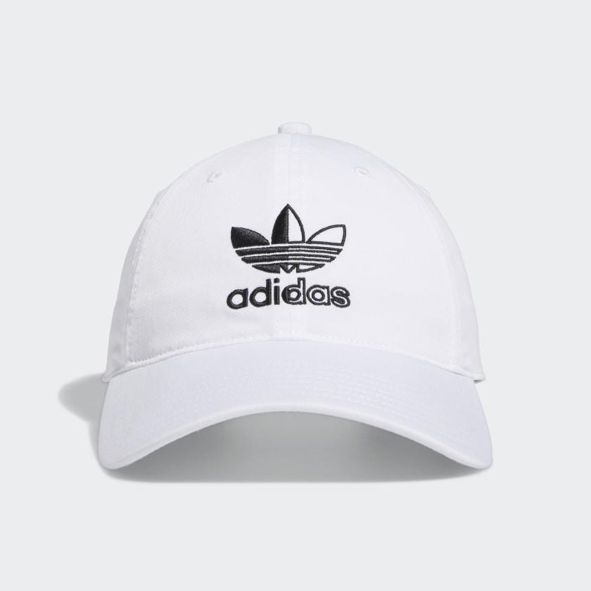 adidas men RELAXED SPLIT TREFOIL STRAP-BACK HAT 40% off $13