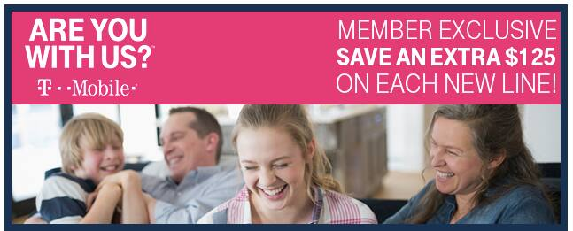 T-mobile Save $125 per new line - on top of current T-Mobile Offers