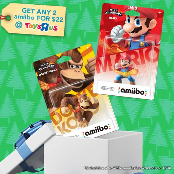 Buy Two Amiibos for $22 at Toys R Us (12/18/14 Only)