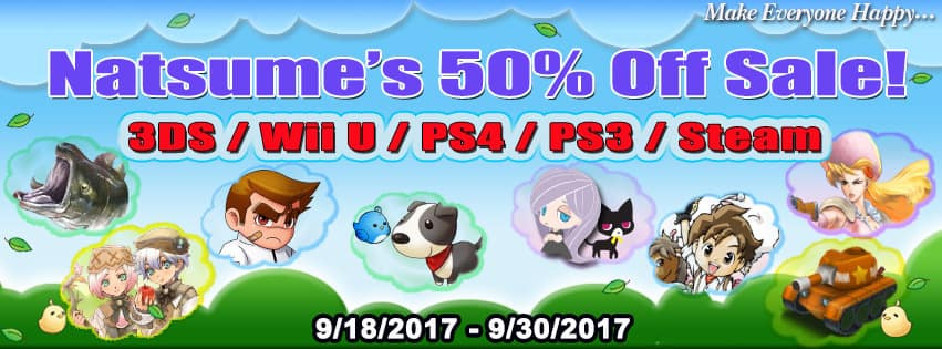 Natsume's 50% Off Sale for the Nintendo 3DS, Wii U, PS4, PS3, and Steam (Includes Harvest Moon and Rune Factory)