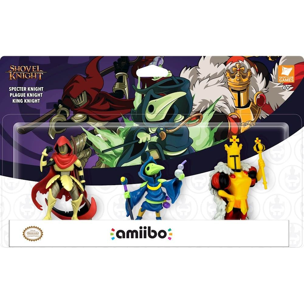 Shovel Knight: Treasure Trove Amiibo (3-Pack) for $34.99 ($27.99 with GCU); Includes Specter Knight, Plague Knight, and King Knight