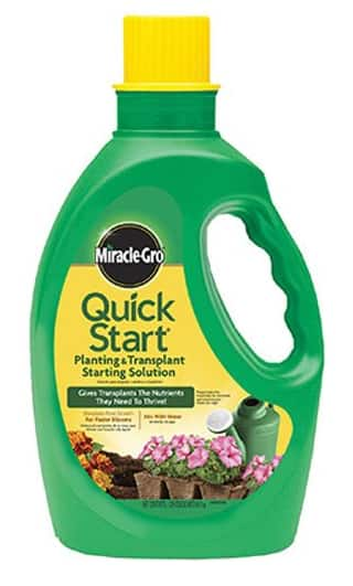 DEAD- Miracle-Gro Quick Start Planting and Transplanting Starting Solution 48 Ounce as low as $1.90 at Amazon