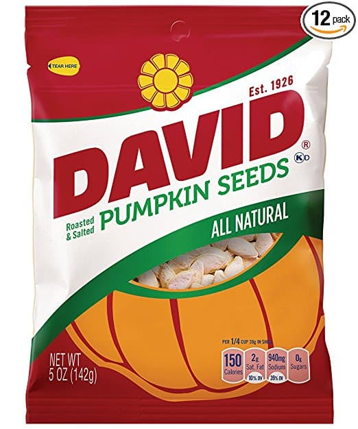 DEAD DAVID Seeds Pumpkin Seeds, 5.0 Ounce (Pack of 12) as low as $2.55 with S & S @ Amazon