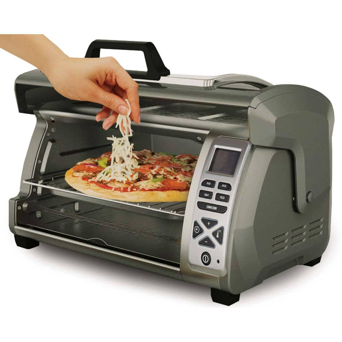 6 Slice Easy Reach® Digital Toaster Oven with Roll-Top Door $79.98