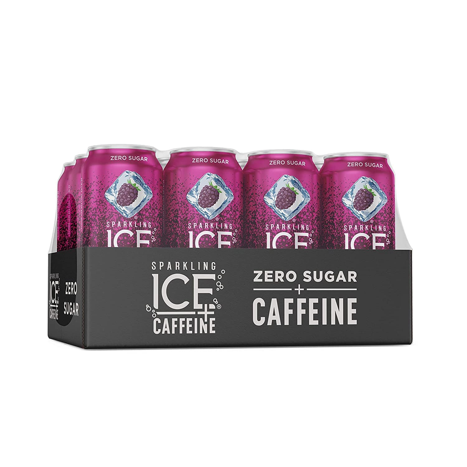 Sparkling Ice Caffeine Black Raspberry 16oz, 12-pack as low as $9.43 with S&S at Amazon.