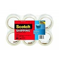 Amazon Deal: Scotch Shipping Tape (6-pack) Refill as low as $11.78+tax w/ S&S/AM or $14.73 one-time w/ Prime YMMV Amazon