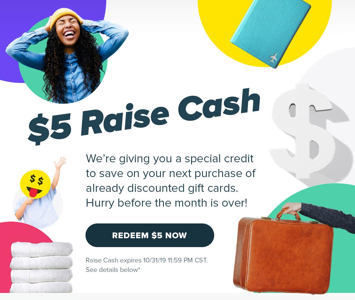Raise Free $5 Coupon (Targeted)