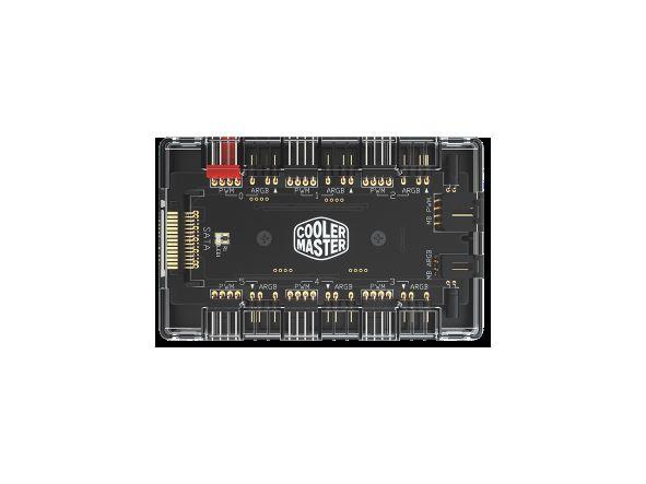 Cooler Master MASTERFAN ARGB and PWM Hub,argb splitter fan hub case rgb lighting controller $17.99
