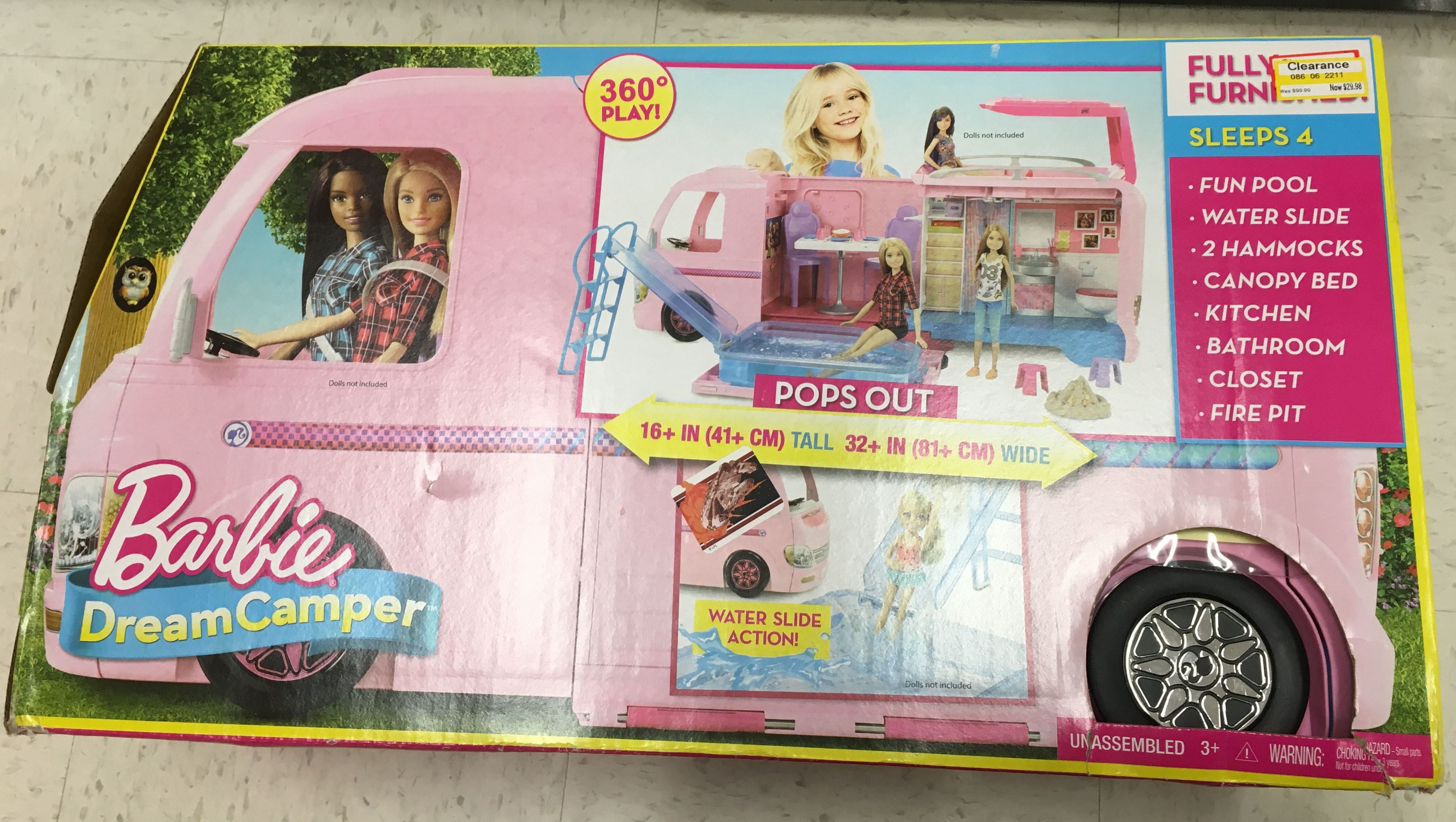 YMMV - Target Barbie Dream Camper Clearance - $29.98
