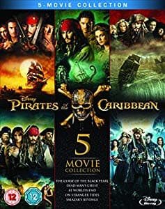 Pirates of the Caribbean: 5-Movie Collection (Region-Free Blu-ray) $26.92
