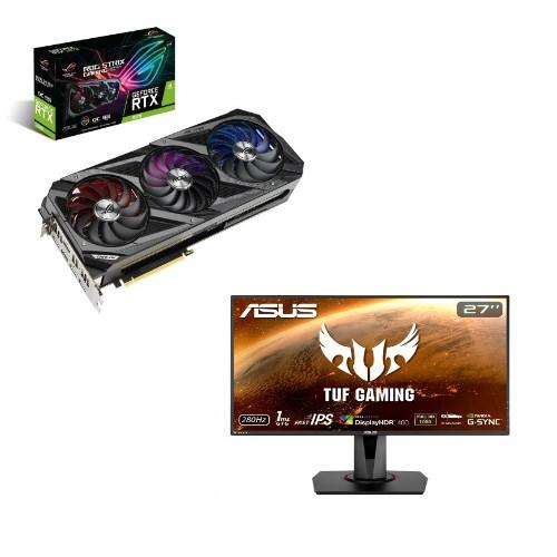 """ASUS ROG-STRIX-RTX3070 + TUF Gaming VG279QM 27"""" Monitor $1129 at Asus"""