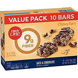 Fiber 1 Oats and Chocolate Bar Value Pack, 1.4 oz, 10 Count - Free shipping (w/ S&S) $4.27