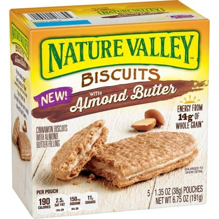 12 Boxes of 5 Ct Nature Valley Almond Butter Biscuits, $6 CPN & S&S $19.50