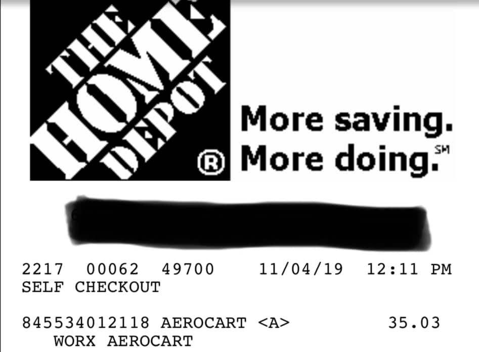 Worx Aerocart $35.03 YMMV at Home Depot