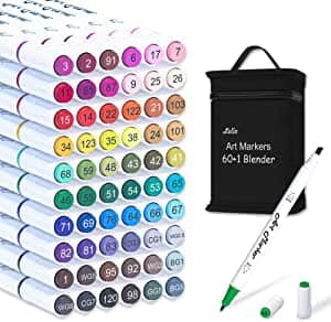 Amazon Lelix 61 Colors Alcohol Art Markers for Kids Adults Artist for $12.59+FS w/Prime or $25+