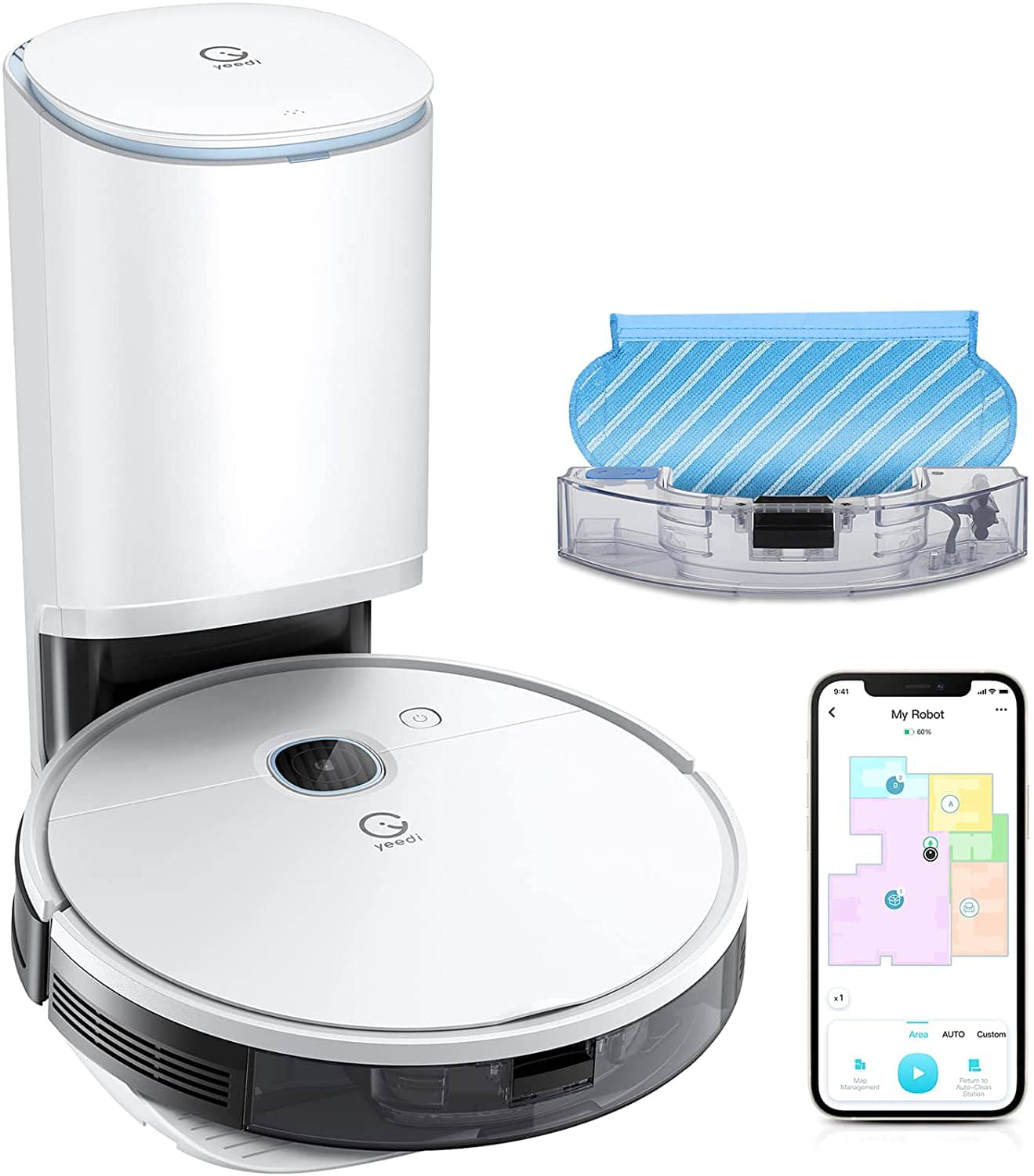 Yeedi Vac Station Robot Vacuum and Mop + Free Shipping for Prime Members $399