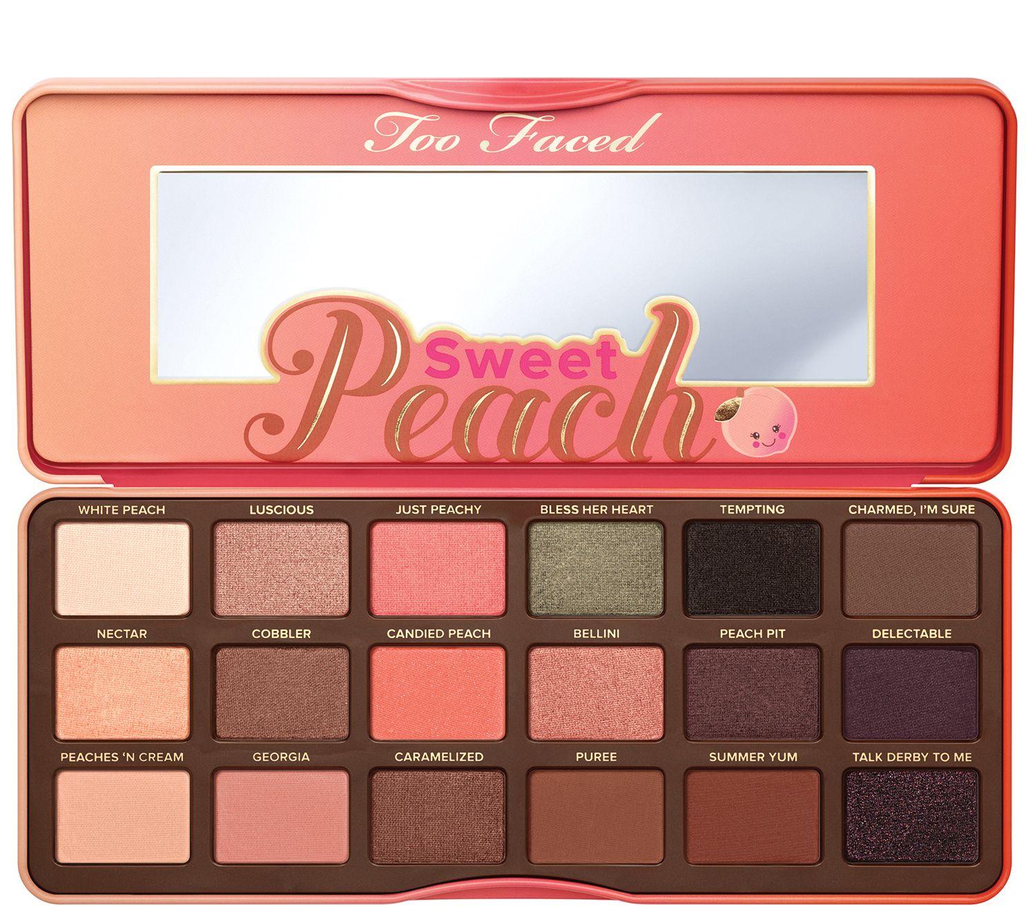 QVC Too Faced Sweet Peach Eyeshadow palette 24.99 free shipping