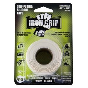 """IPG Iron Grip Self-Fusing Silicone Tape, 1"""" x 10 ft, White $4.50 at Amazon"""