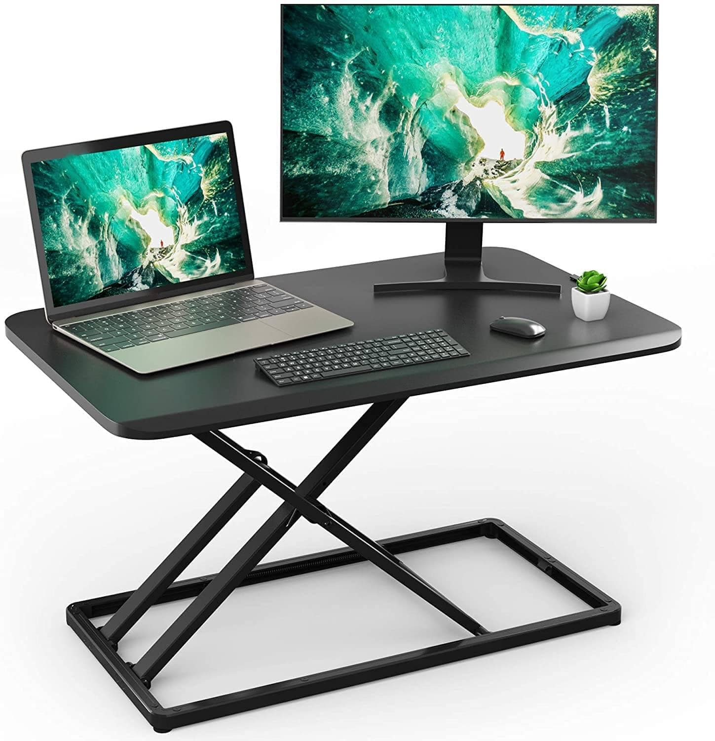 Height Adjustable Stand UP Desktop Riser for 28.5 inches $44.99 + Free Shipping w/ Prime