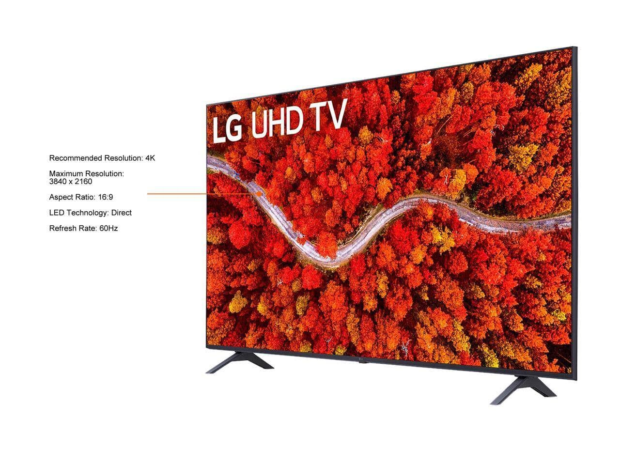 LG UHD 80 Series 43 inch Class 4K Smart UHD TV with AI ThinQ (43UP8000PUA, 2021) $399 After Code $399.99