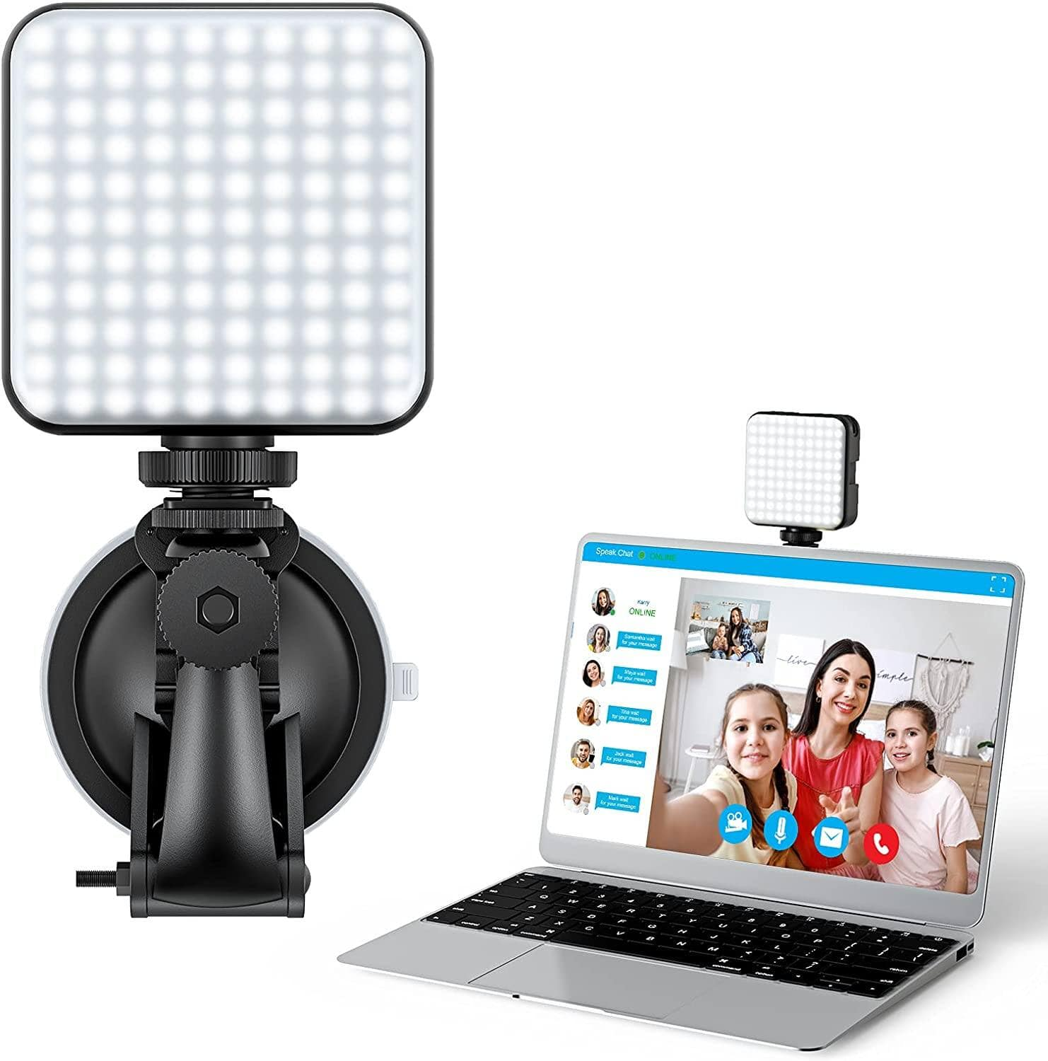 Video Conference Lighting Kit with 2500-6500K Dimmable Color and 5 Brightness Light $4.59