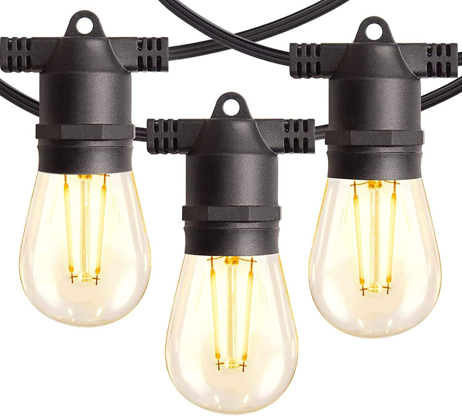 Prime Members: 48FT Low Voltage LED Outdoor String Lights w/ Shatterproof LED Filament Bulbs for $19.99 + free shipping