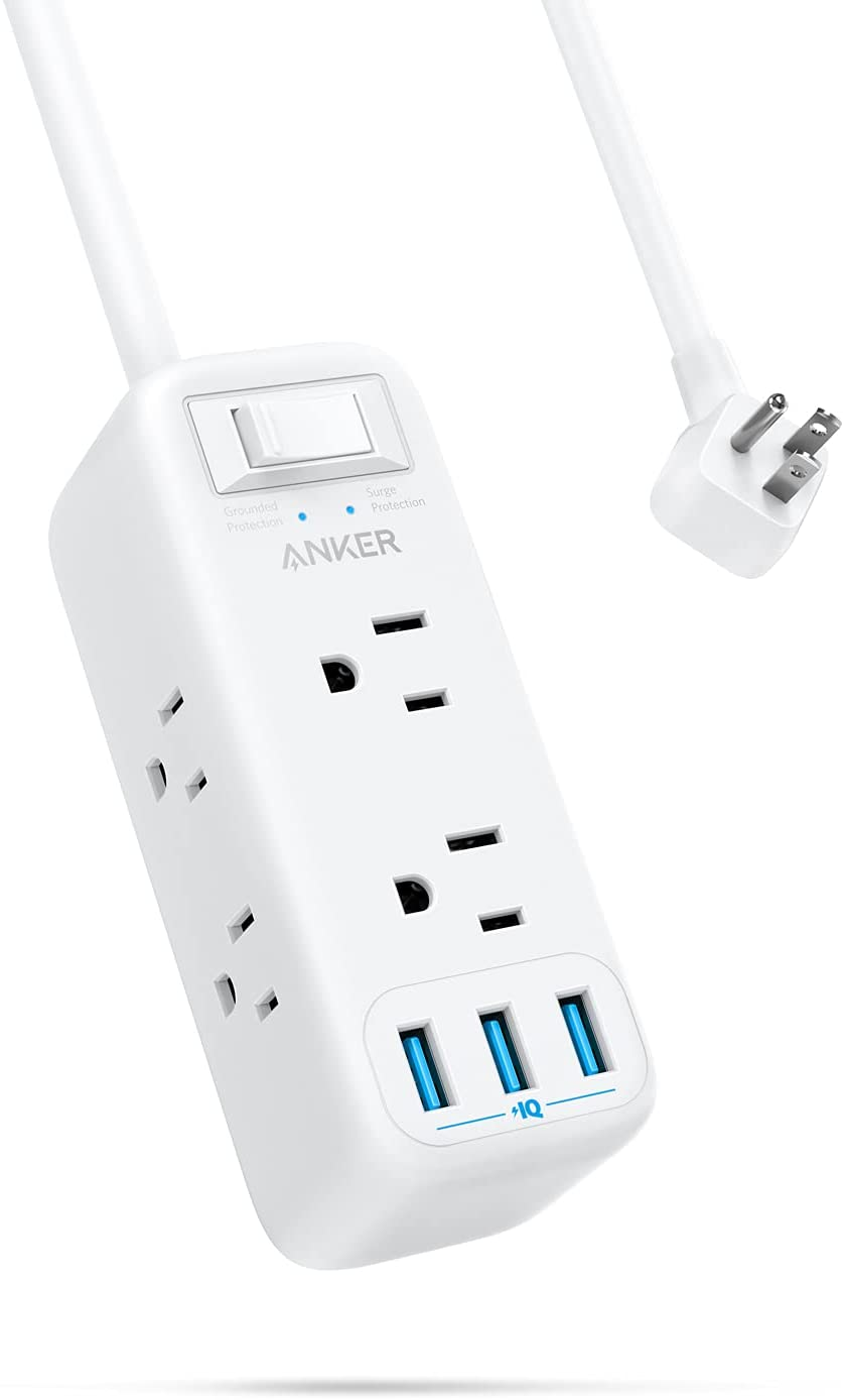33% OFF on Anker Power Strip with 6 Outlets and 3 USB Ports $19.99