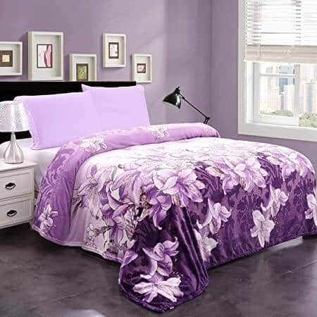 """300GSM 90"""" x 90"""" Super Soft Warm Printed Flannel Fleece Blanket for Couch and Sofa $20.99+FS"""