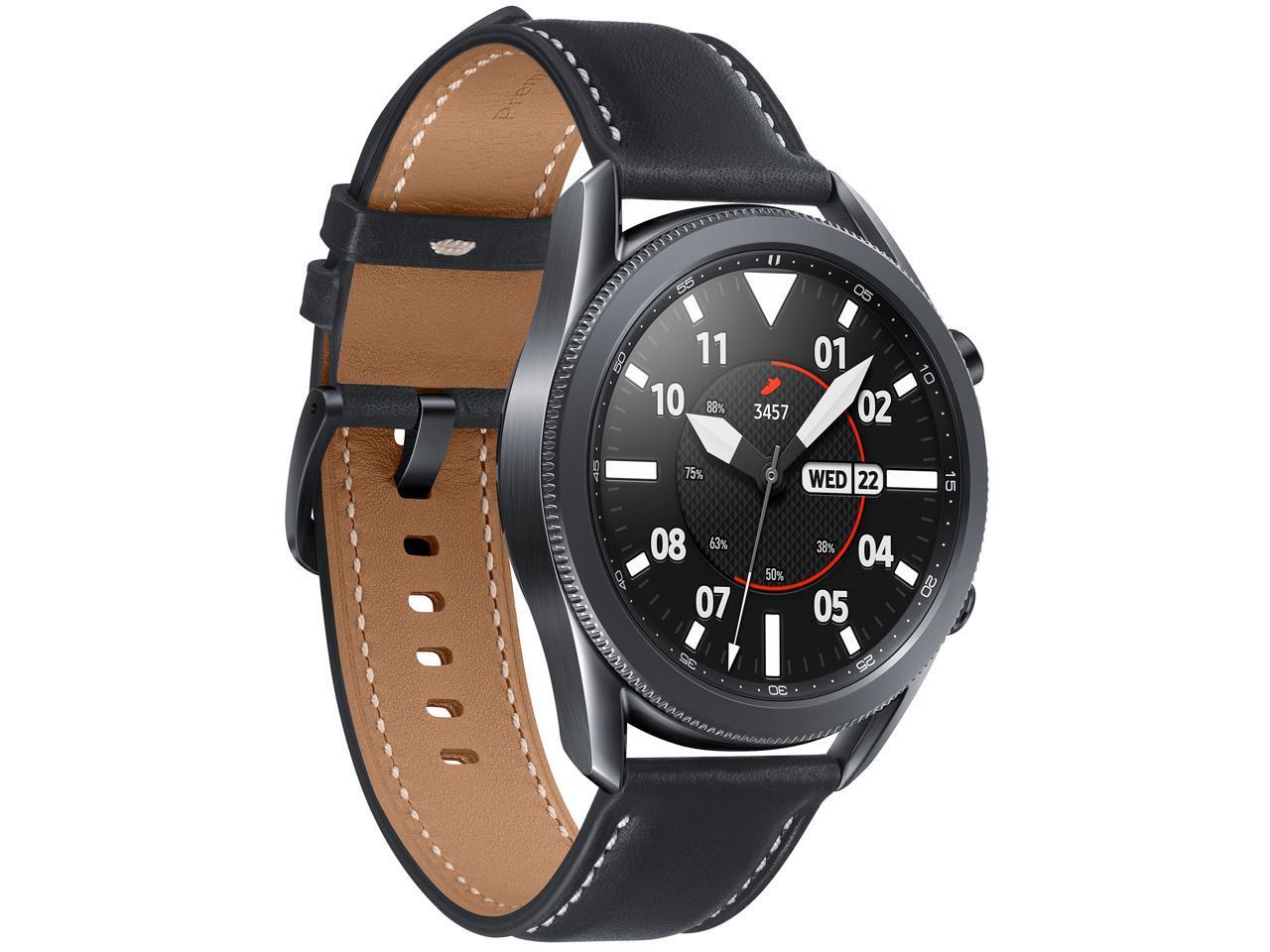 Samsung Galaxy Watch 3 SM-R840NZKCXAR Smartwatch (Mystic Black w/ Bonus Band Included) $179.99