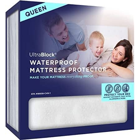 UltraBlock Hypoallergenic, Soft Cotton, Waterproof Queen Mattress Protector for $8.85+ w/ Free Prime Shipping